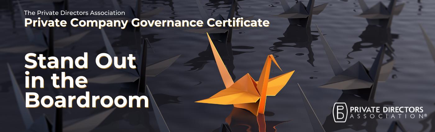 Certificate in Private Company Governance